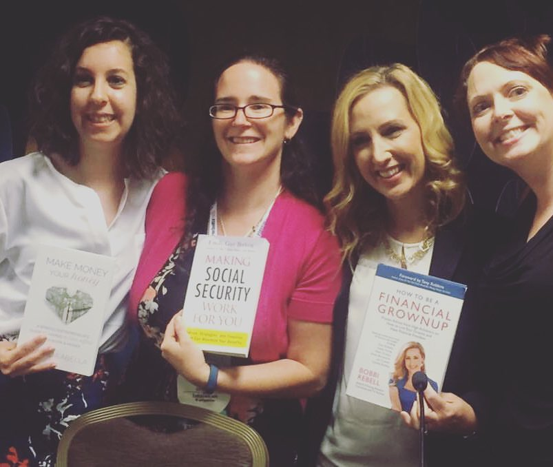 With the ladies of the Self Publishing vs. Traditional Publishing panel.