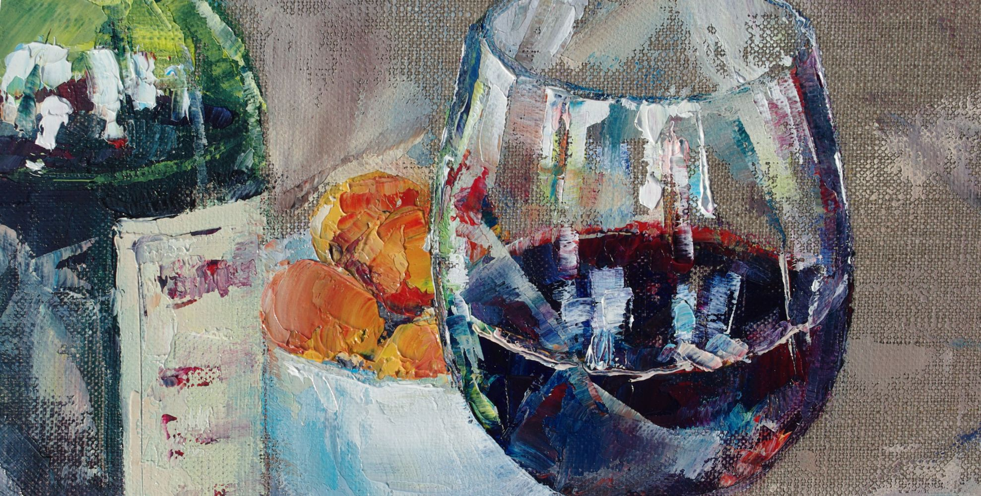 Red Wine and Apricots 1 (detail)