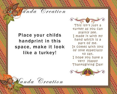 Thanksgiving Handprint Keepsake