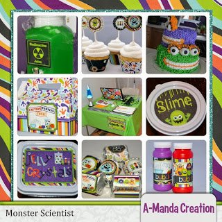 Monster Scientist 6th Birthday Party