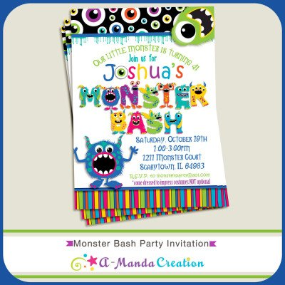 Monster Bash Invitation