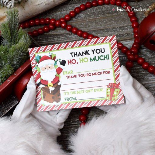 Santa Christmas Thank You Cards