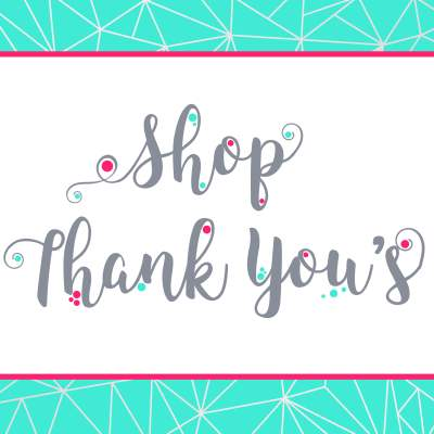 Shop Thank You Cards