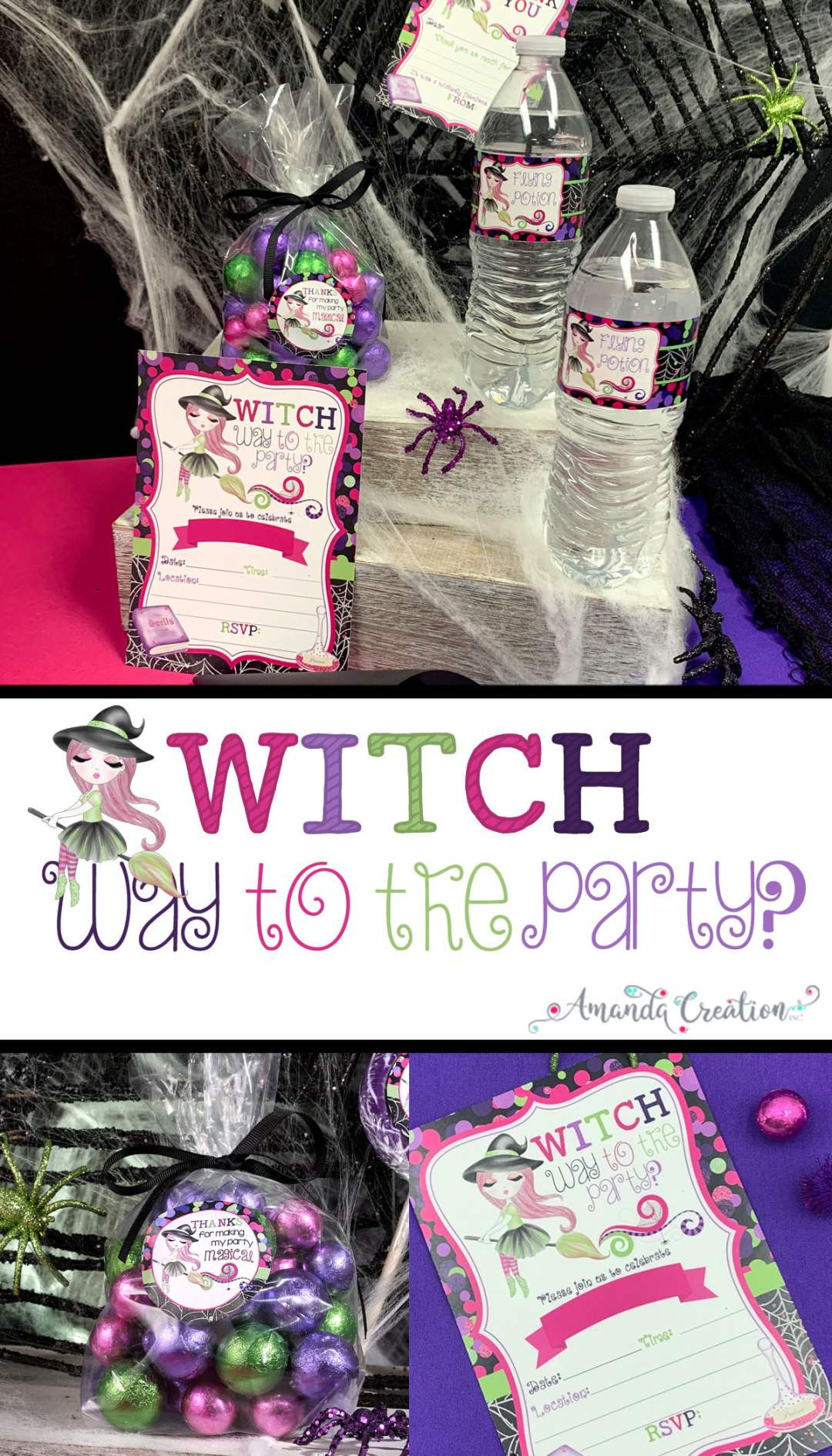fancy witch party supplies