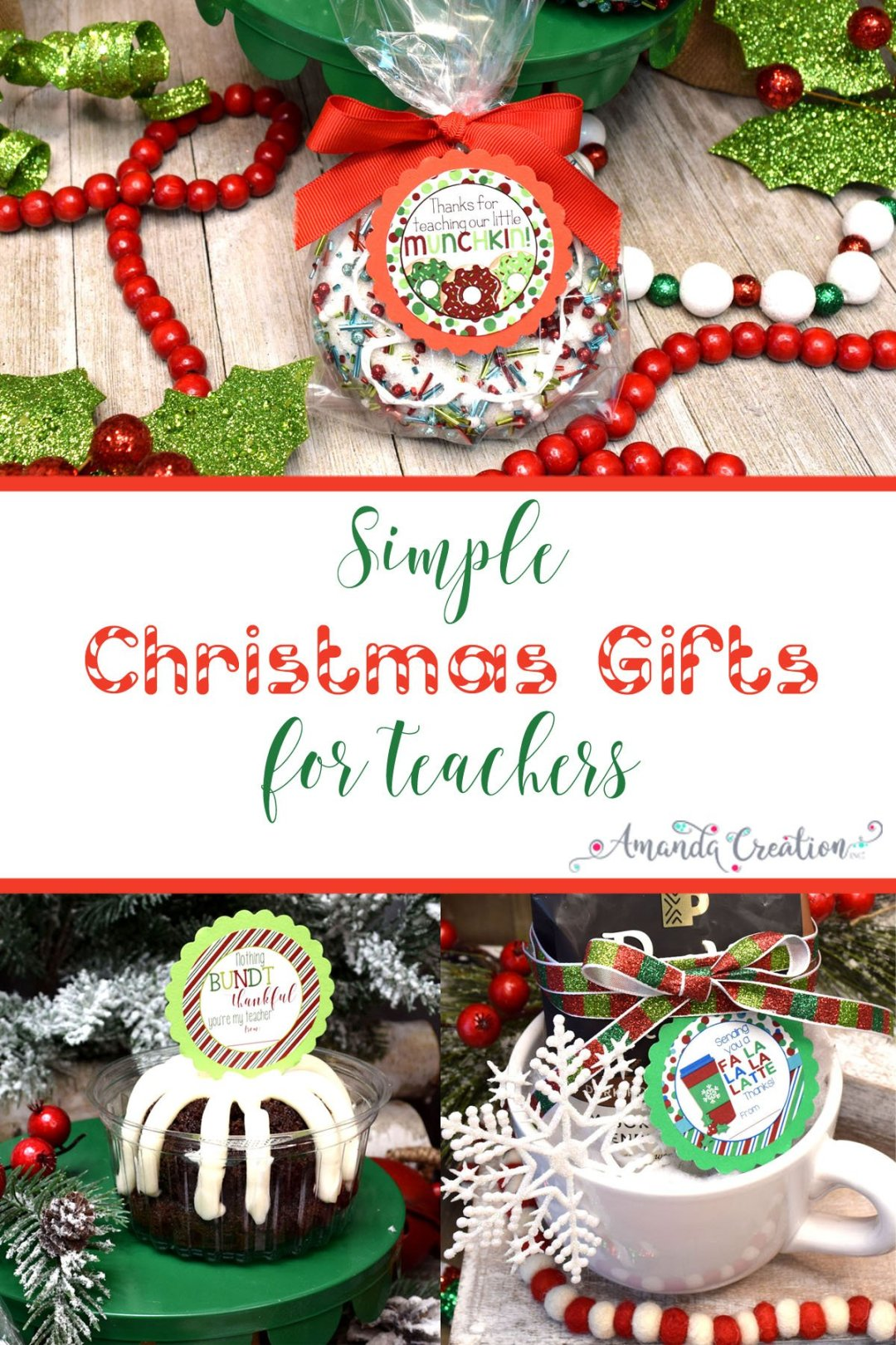 simple Christmas gifts for teachers