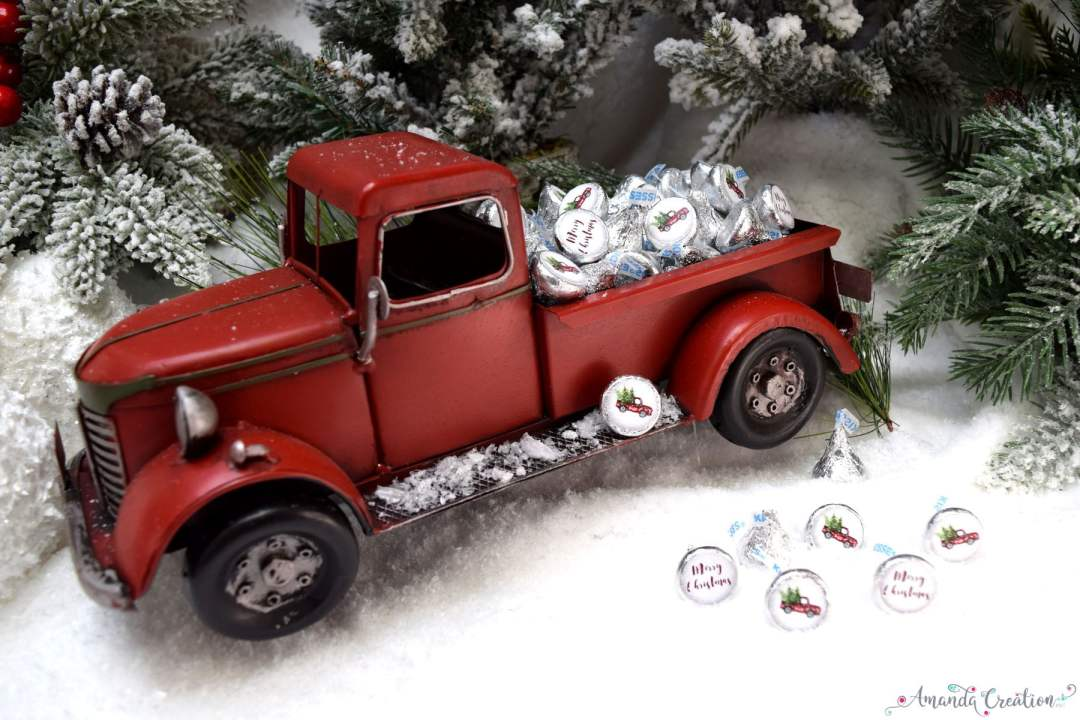 Christmas truck kiss stickers