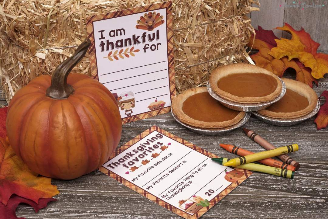 kids thankful for card