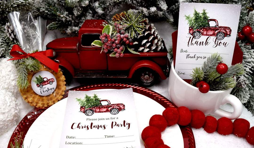 Cute & Classic Christmas Truck Party Supplies