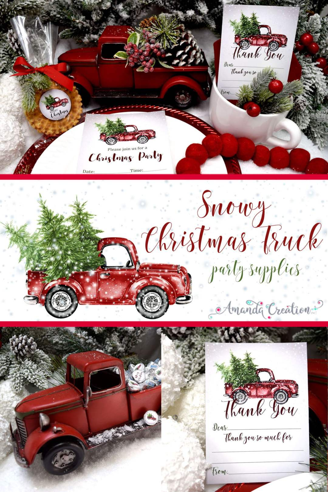 Christmas truck party supplies