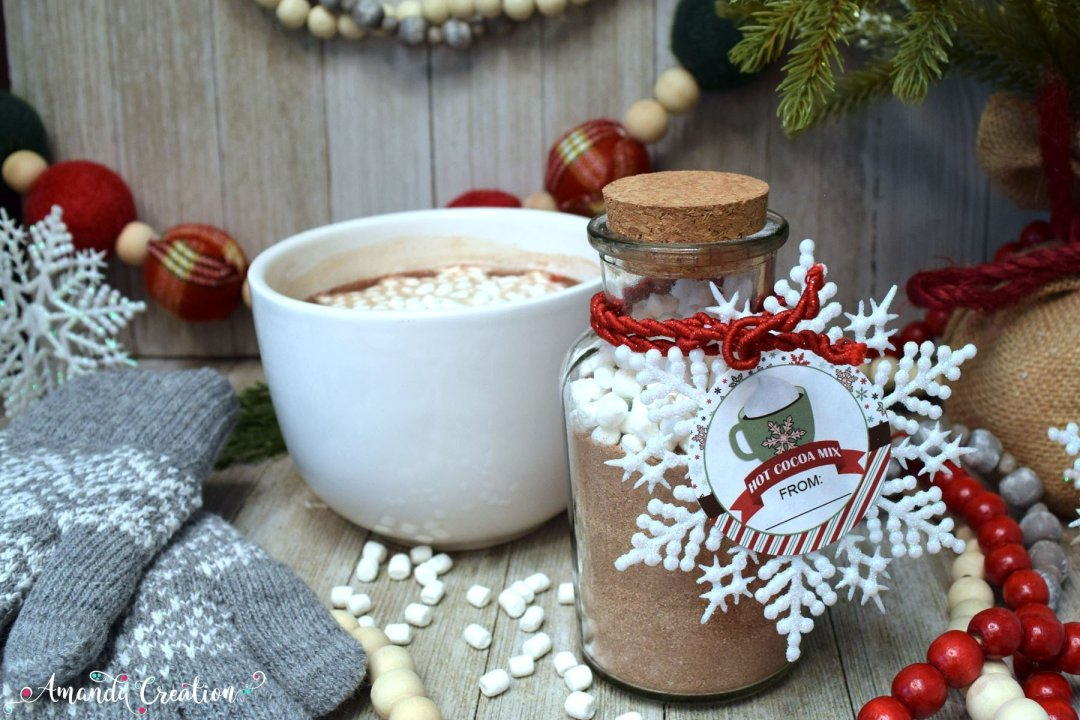 Hot Cocoa Mix Gift Sticker