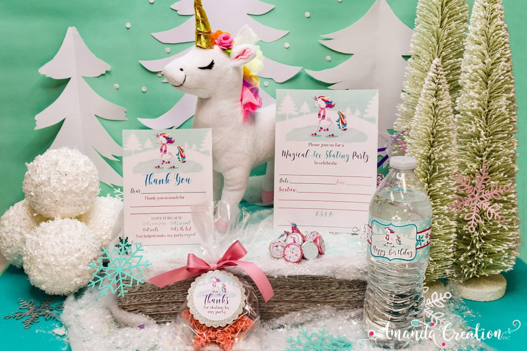 Unicorn Ice Skating Party Supplies