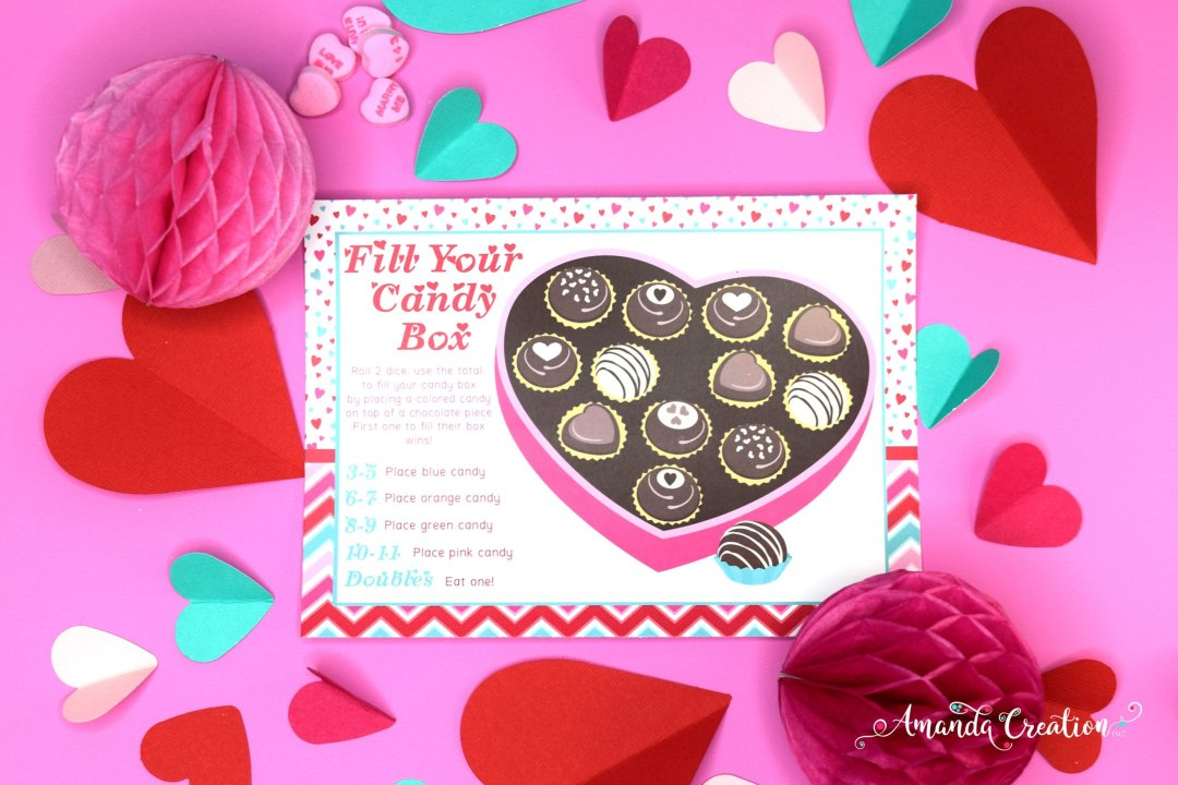 Fill Your Candy Box Valentine's Day Game