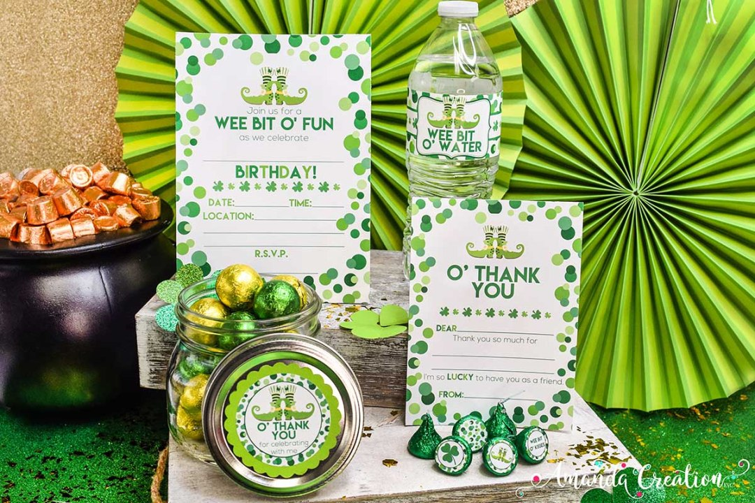 St. Patrick's Day Birthday Party Set