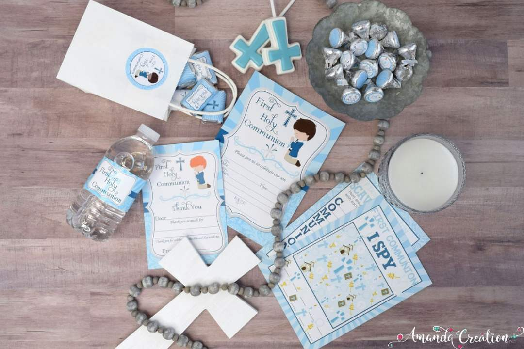 Boy First Holy Communion Party Supplies