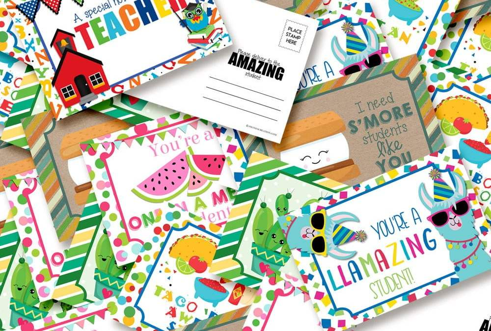 Amazing Teacher Postcards to Stay Connected