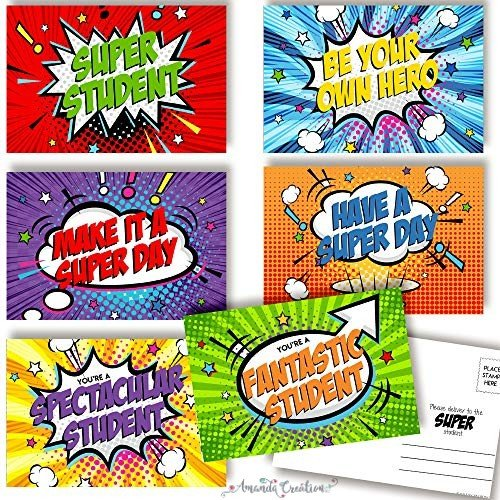 Superhero Student Postcards