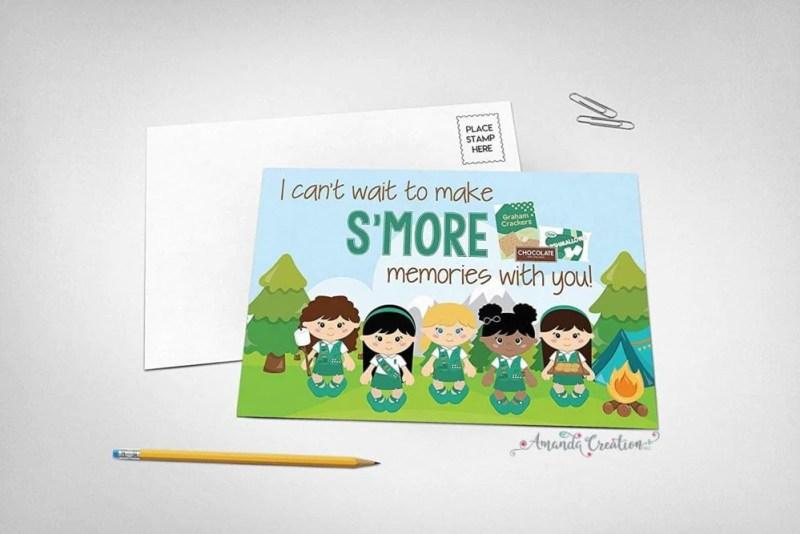 Girl Scouts Postcard