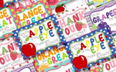 Show Appreciation With Fun Fruit Thank You Postcards