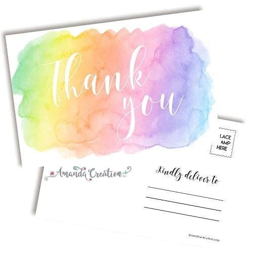 Thank You Pastel Postcard