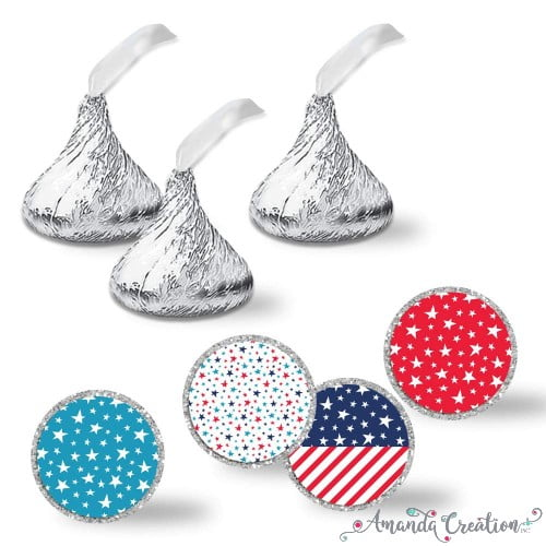 Patriotic Kiss Stickers