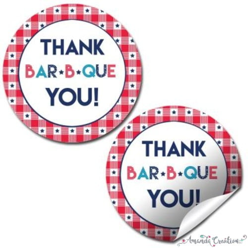 BBQ Thank You Sticker