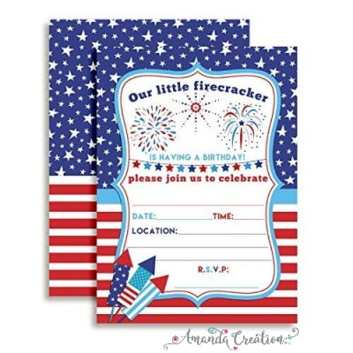 Patriotic Birthday Invitation