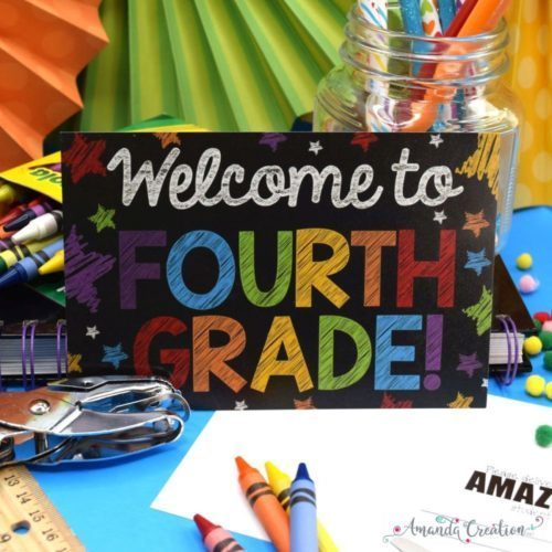 Fourth Grade Back to School Postcards