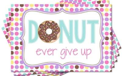Donut Encouragement Postcards Send Sweet Vibes