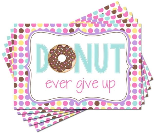 Donut Encouragement Postcards Send Sweet Vibes