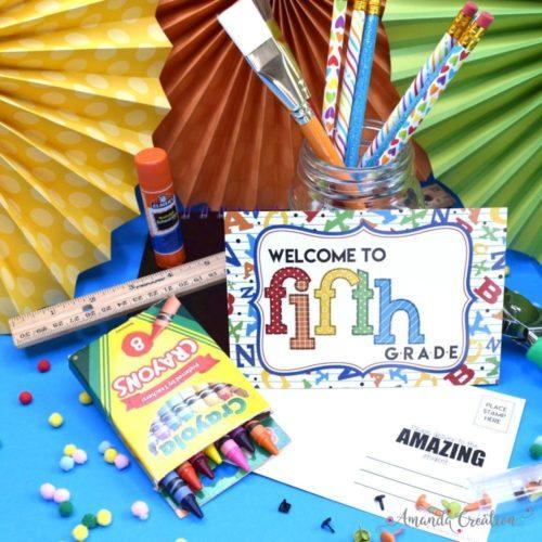 Welcome to 5th Grade Alphabet Postcards for Teachers
