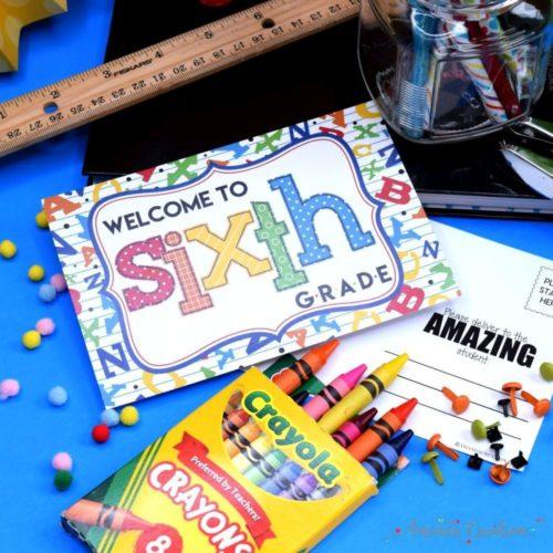 Welcome to 6th Grade Alphabet Postcards for Teachers