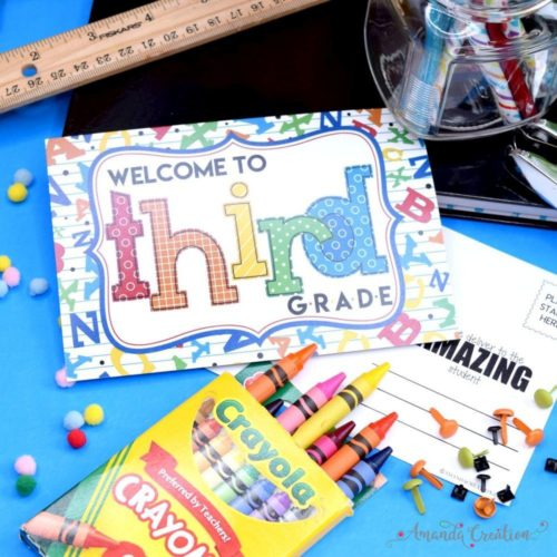 Welcome to 3rd Grade Back to School Teacher Postcards
