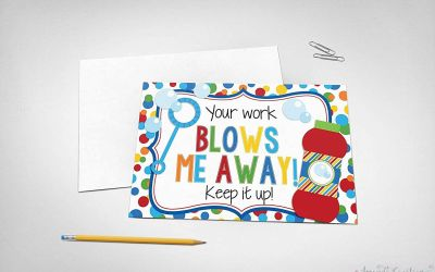 Keep Up the Good Work Cards for Students