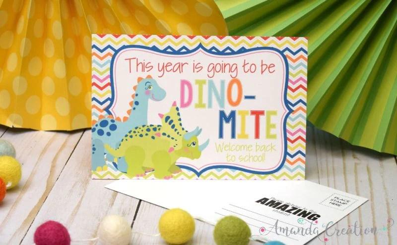 Dinosaur Teacher Postcards