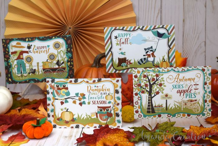 Festive Fall Postcards
