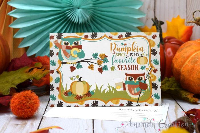 Pumpkin Spice Postcards