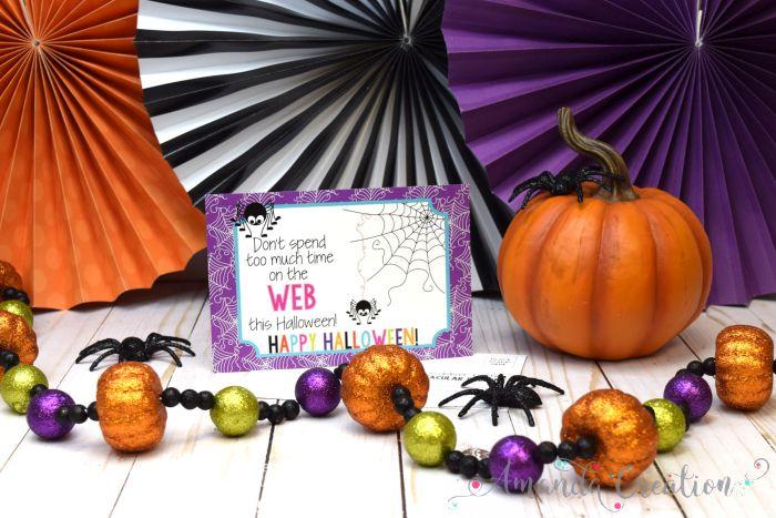 Spider Web Halloween Teacher Postcards