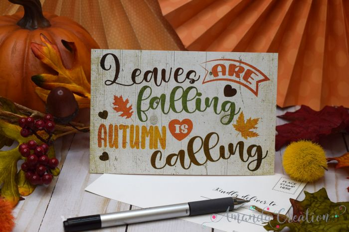 Leaves Are Falling, Autumn Is Calling Fall Postcards