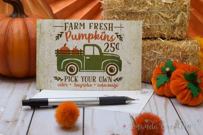 Rustic Fall Postcards Send a Festive Hello