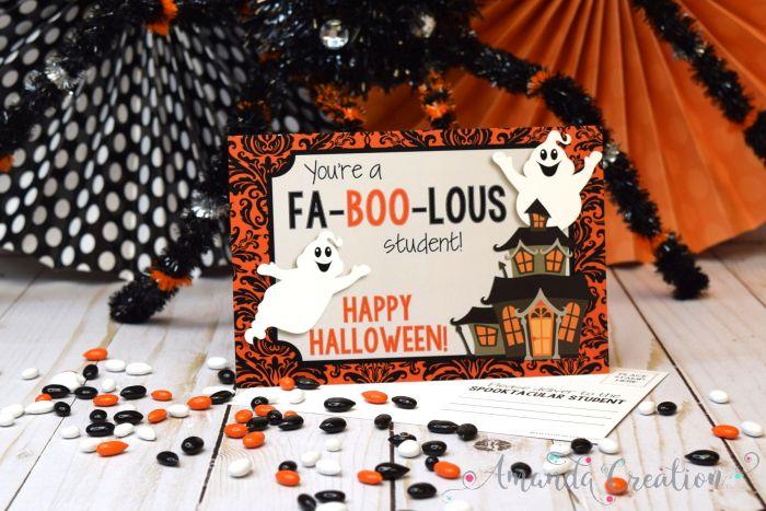 Happy Halloween Teacher Postcards
