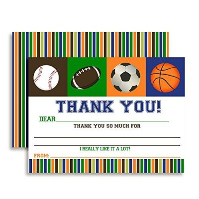 All Star Sports Thank You Cards