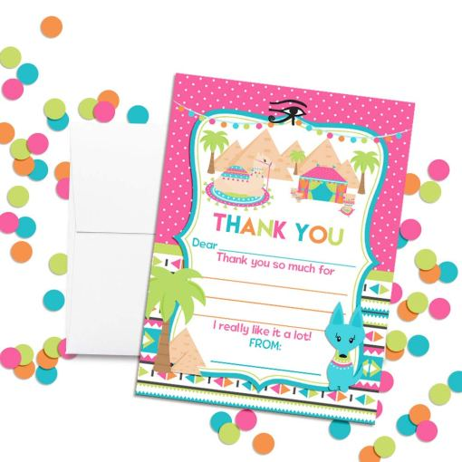 Ancient Egypt Pyramid Thank You Notes
