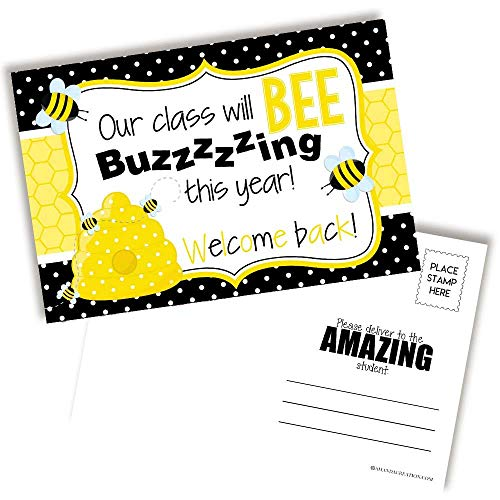 Bumble Bee Back To School Postcards For Teachers