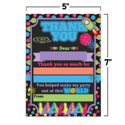 Cosmic Bowling Thank You Cards