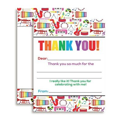 Music Thank You Cards