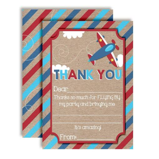 Up & Away Airplane Thank You Cards