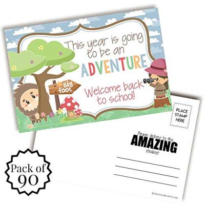 Bigfoot Back to School Teacher Postcards