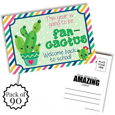 Cactus Back to School Teacher Postcards