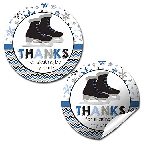 ice skating party stickers
