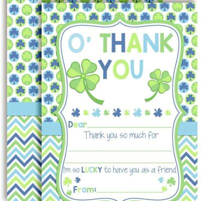 Lucky Lad St. Patrick's Day Thank You Cards